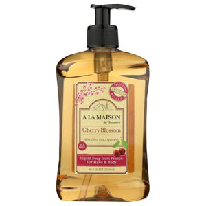 Hand & Body Liquid Soap Cherry Blossom 16.9 Oz by A La Maison