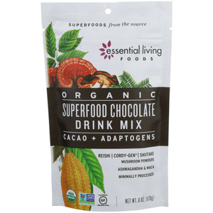 Superfood Drink Mix Chocolate 6 Oz by Essential Living (4754118606933)