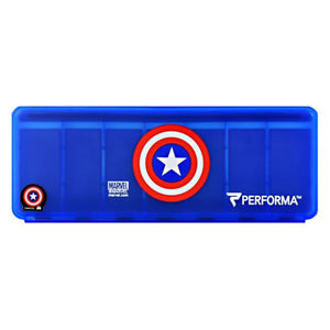 7 Day Vitamin Storage Captain America 1 Each by PerfectShaker