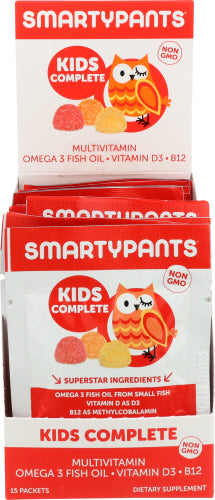 Kids Complete Multivitamin 15 Pieces by SmartyPants (4754135187541)