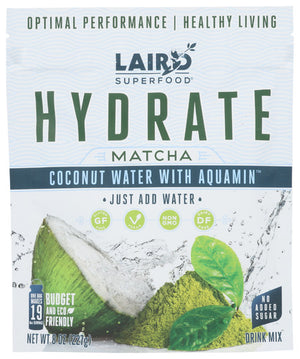 Hydrate Matcha Coconut Water+Aquamin 8 Oz by Laird Superfoods (4754135613525)