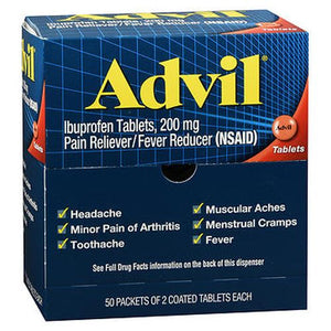 Advil Ibuprofen Coated Tabs 100 Tabs by Advil (4754140856405)