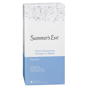 Summer's Eve Douches Extra Cleansing Vinegar & Water 4 Count, (4.5 Oz Each) by Summers Eve (4754142756949)