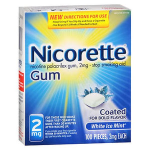 Nicorette Stop Smoking Aid Gum 100 Each by Nicorette (4754145476693)