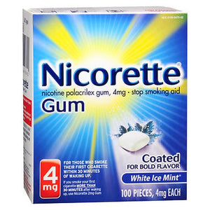 Nicorette Stop Smoking Aid Gum 100 Each by Nicorette (4754145509461)
