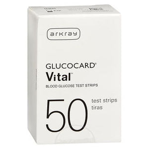 Glucocard Vital Blood Glucose Test Strips 50 Each by ArkRay (4754148294741)