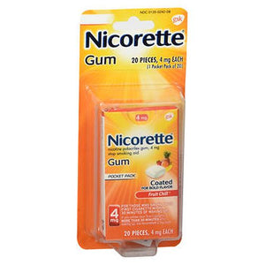 Nicorette Nicotine Polacrilex Gum Fruit Chill 20 Each by Nicorette (4754150228053)