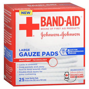 Band-Aid Gauze Pads Large 25 Each by Aveeno (4754153078869)