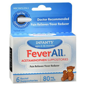 Feverall Infants' Acetaminophen Suppositories 6 UNIT by Feverall (4754154225749)