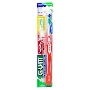 Gum Super Tip Toothbrush Medium - Regular 1 Each by Gum (4754161467477)