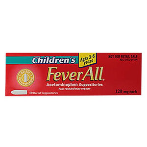 Feverall Suppository Childrens 50 Each by Feverall (4754164154453)