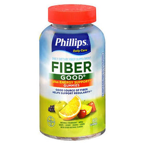 Phillips' Fiber Good Plus Energy Support Gummies Assorted Flavors 80 Each by Phillips (4754164809813)