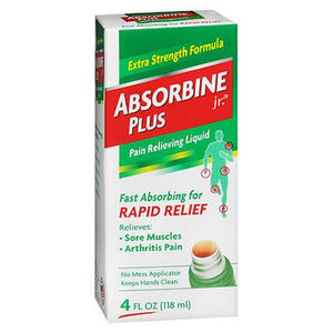 Absorbine Jr Plus Pain Relieving Liquid 4 Oz by Absorbine Jr (4754164908117)