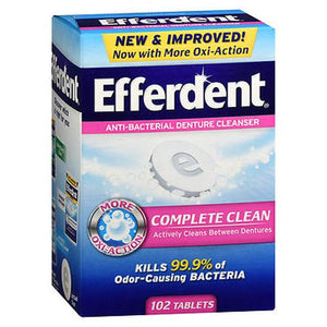 Efferdent Complete Clean Anti-Bacterial 102 Tabs by Efferdent (4754165497941)