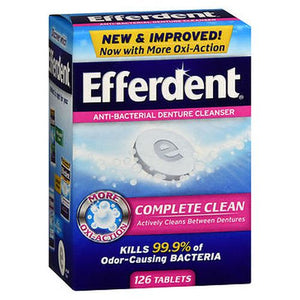 Efferdent Anti-Bacterial Denture Cleanser 126 Tabs by Efferdent (4754165530709)
