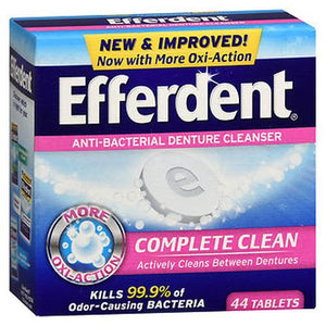 Efferdent Anti-Bacterial Denture 44 Tabs by Efferdent (4754165596245)