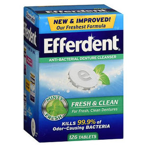 Efferdent Fresh & Clean Anti-Bacterial Denture 126 Tabs by Efferdent (4754165661781)