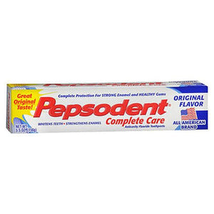 Pepsodent Complete Care Anticavity Fluoride Toothpaste Original Flavor 5.5 Oz by Pepsodent (4754174115925)