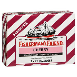 Fisherman's Friend Menthol Cough Suppressant Lozenges Sugar Free Cherry 40 Each by Fisherman's Friend (4754181128277)