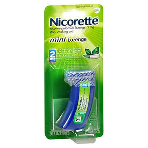 Nicorette Nicotine Polacrilex Mini Lozenges Mint 20 Each by Nicorette (4754183290965)