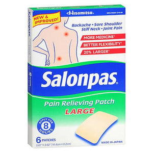 Salonpas Pain Relieving Patches Large 6 Each by Salonpas (4754183651413)