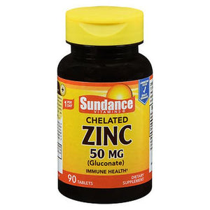 Sundance Vitamins Chelated Zinc (Gluconate) Tablets 90 Tabs by Sundance (4754193612885)