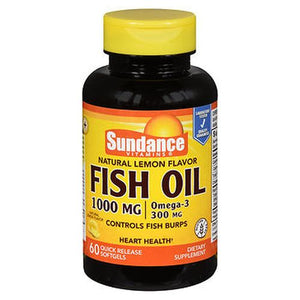 Sundance Vitamins Fish Oil Softgels Natural Lemon Flavor 60 Tabs by Sundance (4754197610581)