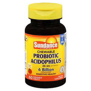 Sundance Probiotic Acidophilus Chewable Tablets 60 Tabs by Sundance (4754198167637)