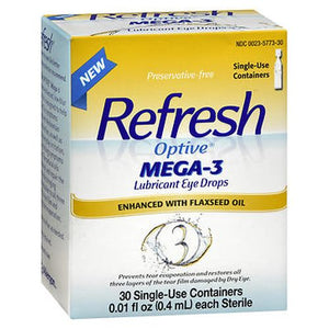 Refresh Optive Mega-3 Lubricant Eye Drops with Flaxseed Oil 30 Each by Refresh (4754208522325)