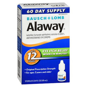 Bausch + Lomb Alaway Antihistamine Eye Drops 0.33 Oz by Bausch And Lomb (4754219335765)