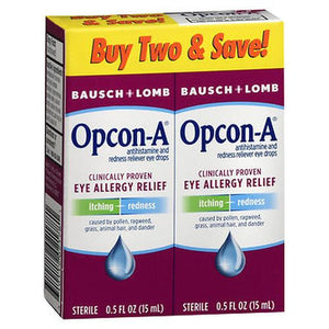 Bausch + Lomb Opcon-A Eye Allergy Relief Drops 0.5 Oz by Bausch And Lomb (4754220286037)