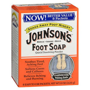 Johnson's Foot Soap Powder Packets 8 Each by Johnson's (4754222973013)