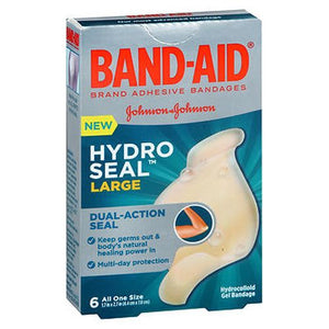 Band-Aid Hydro Seal Hydrocolloid Gel Bandages Large 6 Each by Band-Aid (4754225496149)