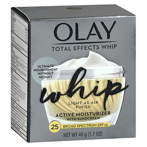 Olay Total Effects Whip Active Moisturizer With Sunscreen Spf 25 1.7 Oz by Olay (4754225725525)
