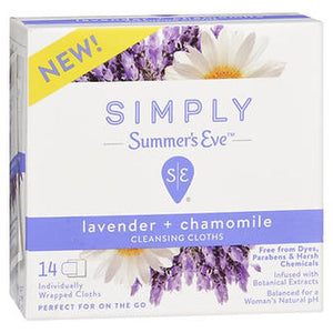 Simply Summer's Eve Cleansing Cloths 14 Each by Summers Eve (4754228346965)