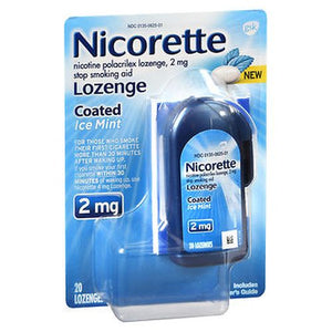 Nicorette Nicotine Polacrilex Lozenges Coated Ice Mint 20 Each by Nicorette (4754229166165)