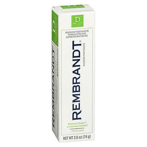 Rembrandt Anticavity Fluoride Toothpaste With Peroxide Peppermint Flavor 3.5 Oz by Rembrandt (4754230313045)