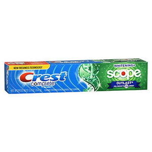 Crest Complete Multi-Benefit Fluoride Toothpaste Whitening + Scope Outlast Mint 5.4 Oz by Crest (4754233557077)
