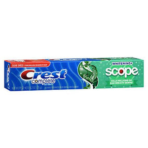Crest Complete Multi-Benefit Whitening + Scope Fluoride Toothpaste Minty Fresh Striped 5.4 Oz by Crest (4754233655381)