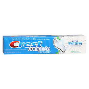 Crest Complete Toothpaste Extra Whitening With Tartar Protection Clean Mint 5.4 Oz by Crest (4754233720917)
