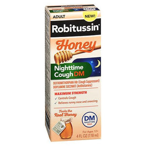 Robitussin Adult Honey Nighttime Cough DM 4 Oz by Robitussin (4754234245205)