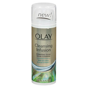 Olay Cleansing Infusion Hydrating Glow Facial Cleanser Deep Sea Kelp & Aloe Extract 5 Oz by Olay (4754234409045)