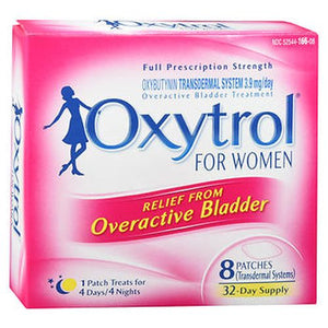 Oxytrol for Women Overactive Bladder Treatment Patches 8 Each by Oxytrol (4754235031637)