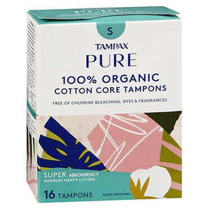 Tampax Pure 100% Organic Cotton Core Tampons Super Absorbency 16 CARTN by Tampax (4754241159253)