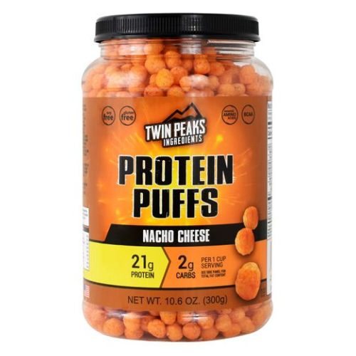 Protein Puffs Nacho Cheese 10 Each by Twin Peaks Ingredients