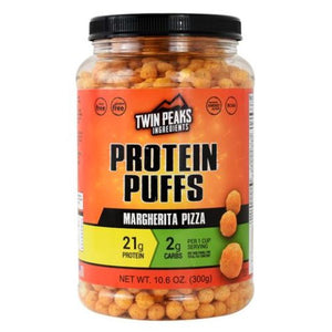 Protein Puffs Margharita Pizza 10 Each by Twin Peaks Ingredients (4754032787541)