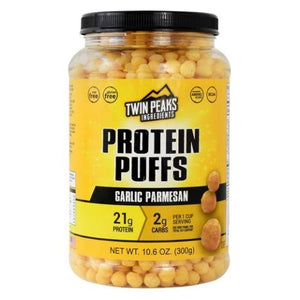 Protein Puffs Garlic Parmesan 10 Each by Twin Peaks Ingredients (4754032820309)
