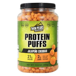 Protein Puffs Jalapeno Cheddar 10 Each by Twin Peaks Ingredients (4754032885845)
