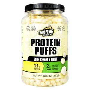 Protein Puffs Source Cream & Onion 10 Each by Twin Peaks Ingredients (4754033049685)