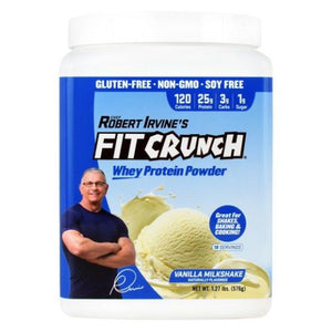 Fit Crunch Whey Protein Powder Vanilla 18 Servings by Fit Crunch Bars (4754037604437)